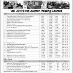 DBI 2019 First Quarter Training Courses