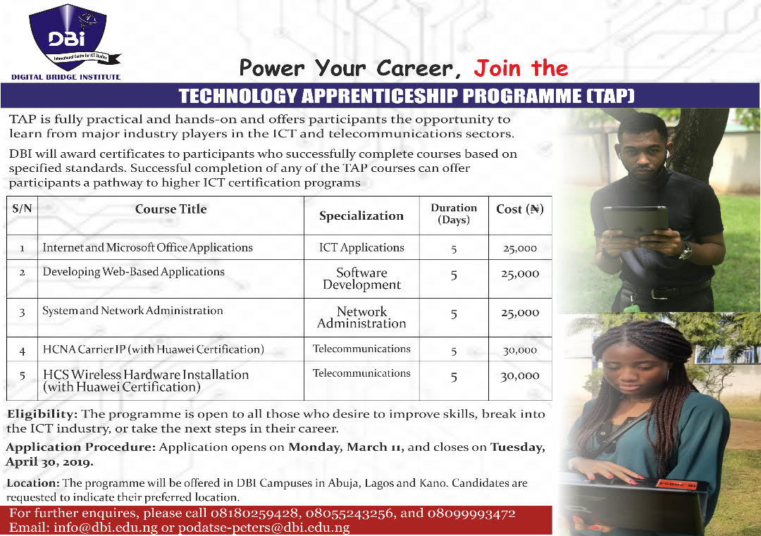 Technology Apprenticeship Programme (TAP)