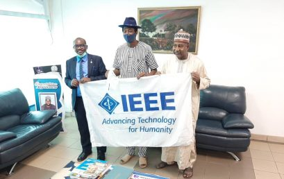 The Chairman and the Secretary of IEEE Nigeria Provide support for DBI