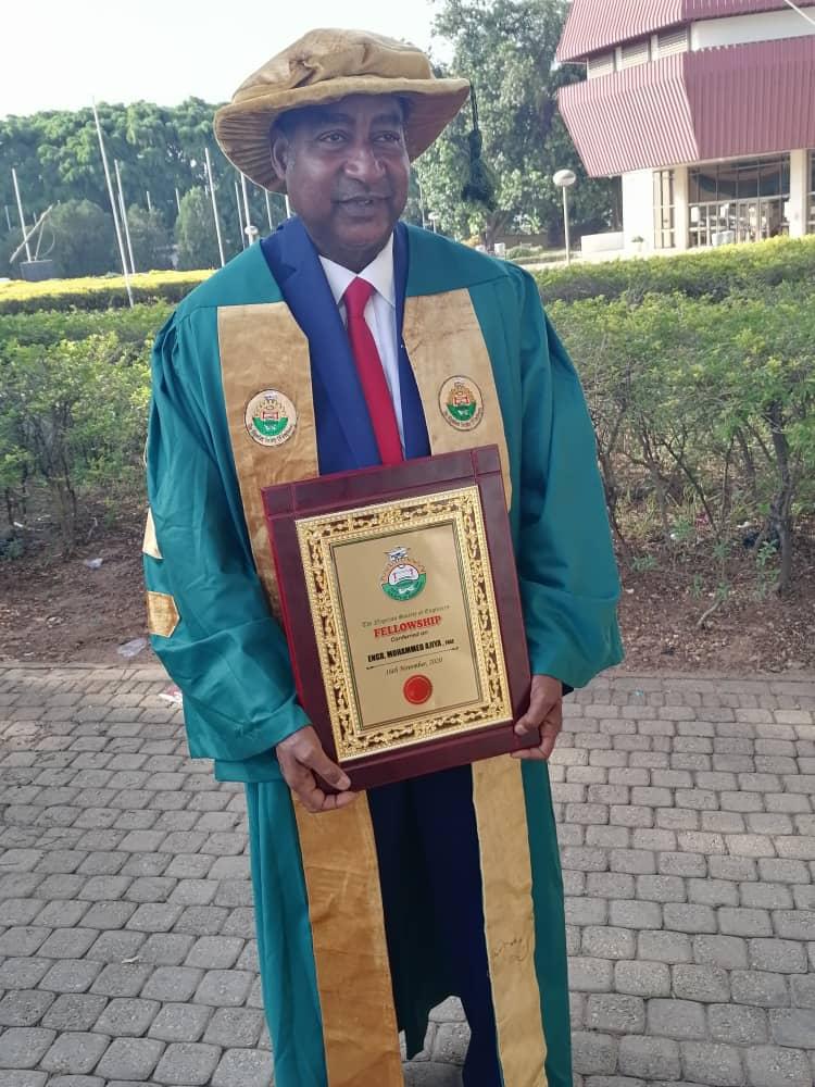 "Prof. Engr. Mohammed Ajiya awarded ""Fellow"" of the Nigerian Society of Engineers."